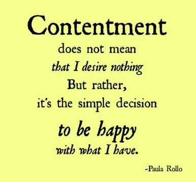 Contentment - 2