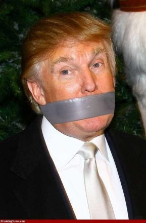 trump with tape